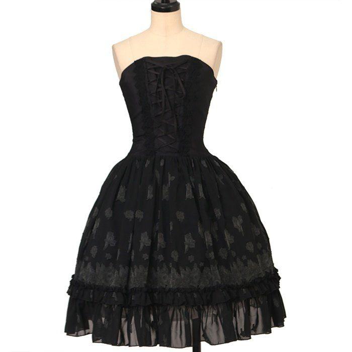 Bustier Dress  ATELIER-PIERROT  https://www.wunderwelt.jp/en/products/w-25836    Worldwide shipping available ♪   How to order ↓  https://www.wunderwelt.jp/en/shopping_guide  * Japanese online shop for second-hand Lolita Fashion *Wunderwelt *