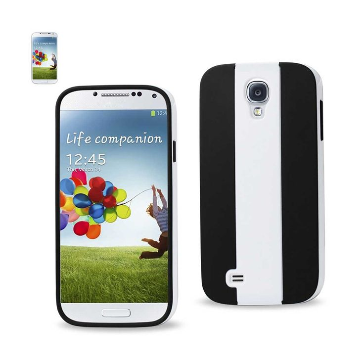 Reiko Samsung Galaxy S4 Striped Case White Black | MaxStrata