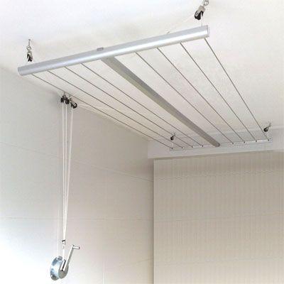 Etendoir de plafond avec manivelle