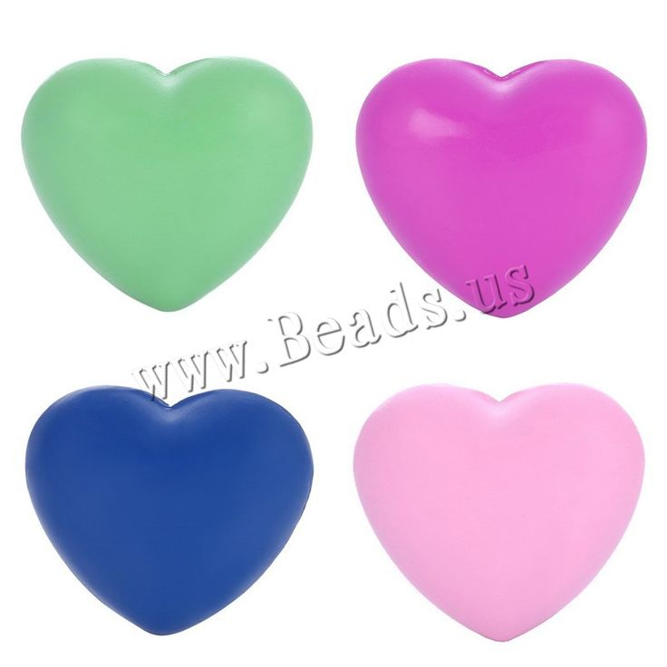 Brass Jewelry Beads, Heart, painted, no hole, more colors for choice, nickel