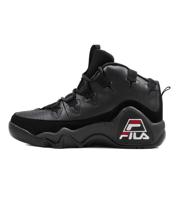 fila shoes all black with white
