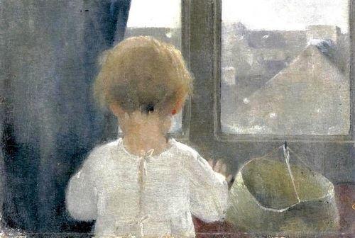 Helene Schjerfbeck, Neck of a little girl.