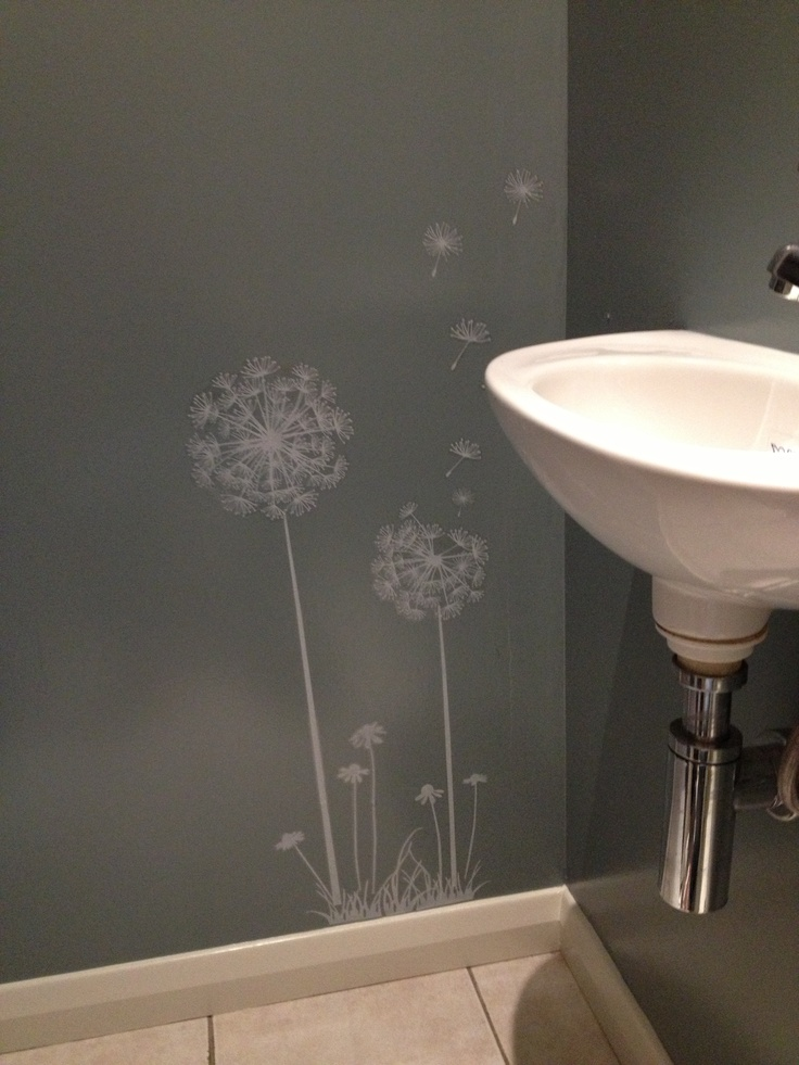 This Dandelion decal is an easy way to be creative & add art to a wall - used this in our toilet room.