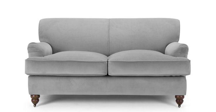 Orson 2 Seater Sofa, Granite Velvet | made.com