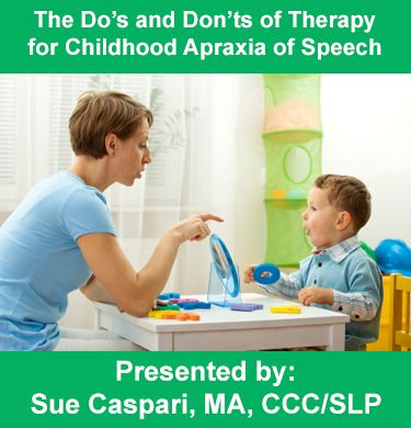 In this webinar, Ms. Caspari will highlight the Do's and Don'ts of CAS Therapy with a special focus on the unique components of therapy thought to be most beneficial for children with this complex motor‐based speech disorder.