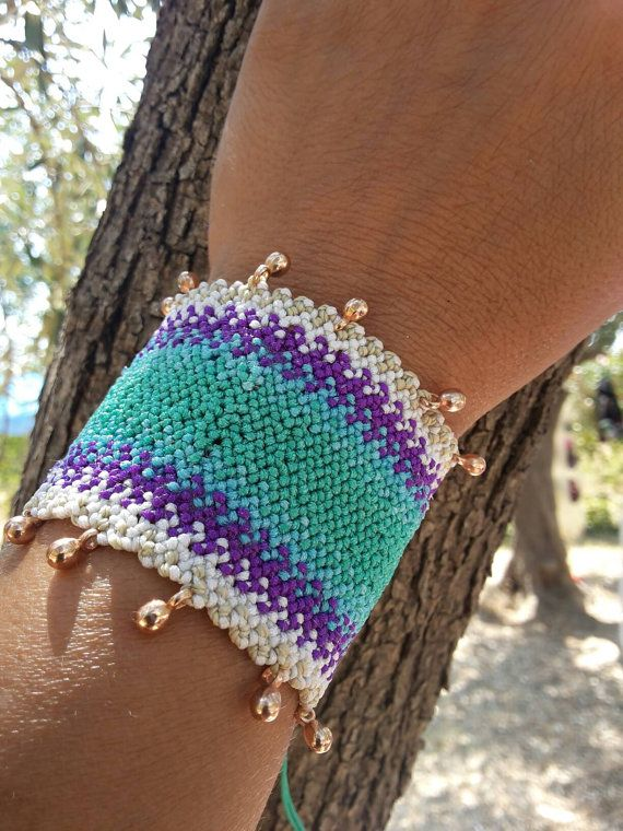 Check out this item in my Etsy shop https://www.etsy.com/listing/476839699/boho-style-cuff-micromacrame-adjustable