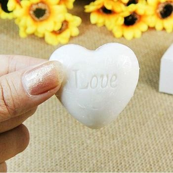 Casa partito sveglio di figura del cuore di amore sapone profumato nozze favori creativo baby shower regalo inscatolato oc au
