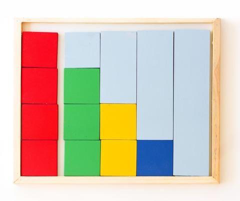 Montessori Fraction Wooden Puzzle (14 pc)