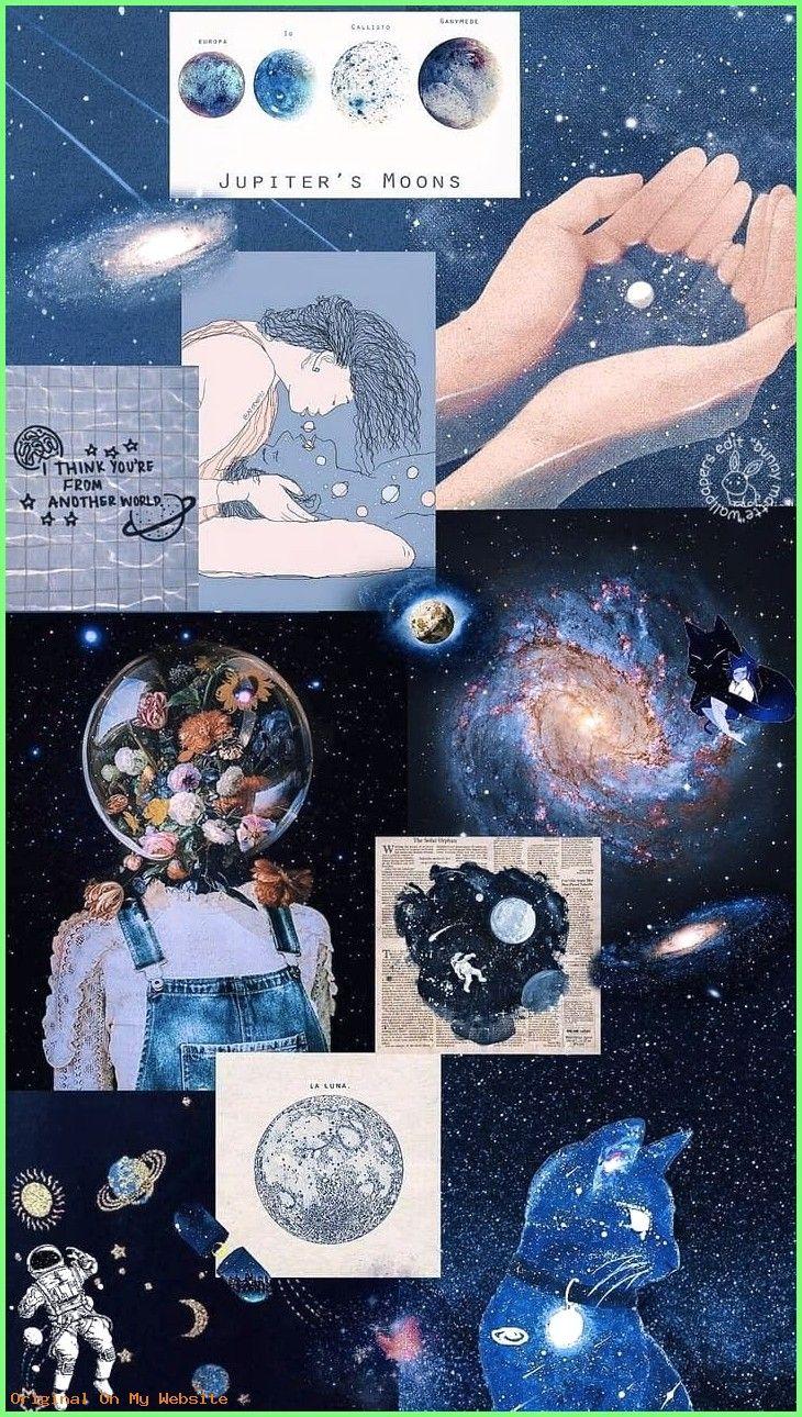 Wallpaper Tumblr Jupiter Collage Lockscreen Aesthetic Iphone