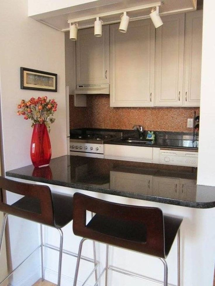 Kitchen Small Black And White Kitchen Bar Set In Modern Style With Mini  Track Lighting Also Decorative Brown Backsplash Tile Best Kitchen Bar Design  Ideas