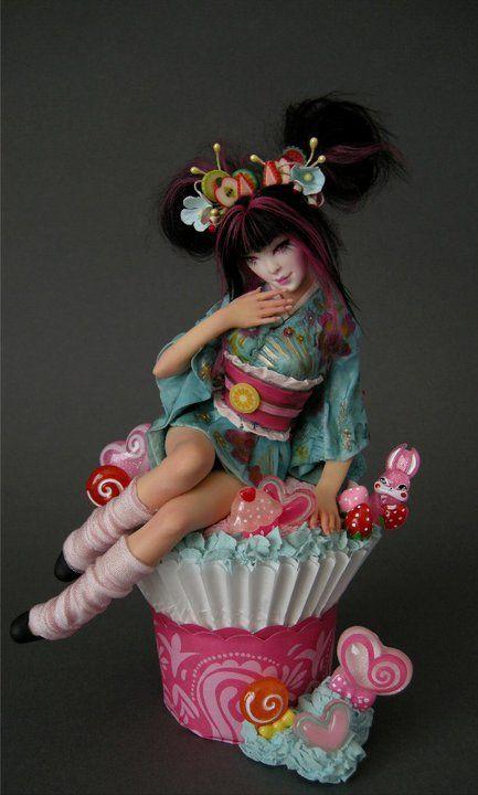 Nicole West OOAK ** Secondary Market ** 2010** Harajuku CupCake Geisha                                                                                                                                                                                 More
