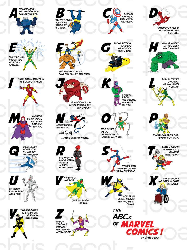 I NEED this for my classroom! -- Marvel Primer - Chris Cecot - Graphic Design