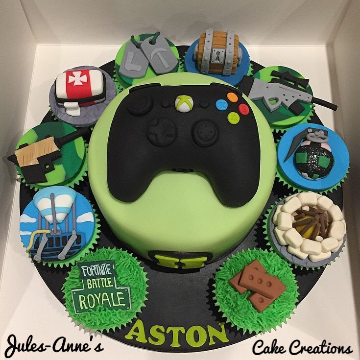 Fortnite Battle Royale Xbox Birthday Cake Cupcakes By Jules