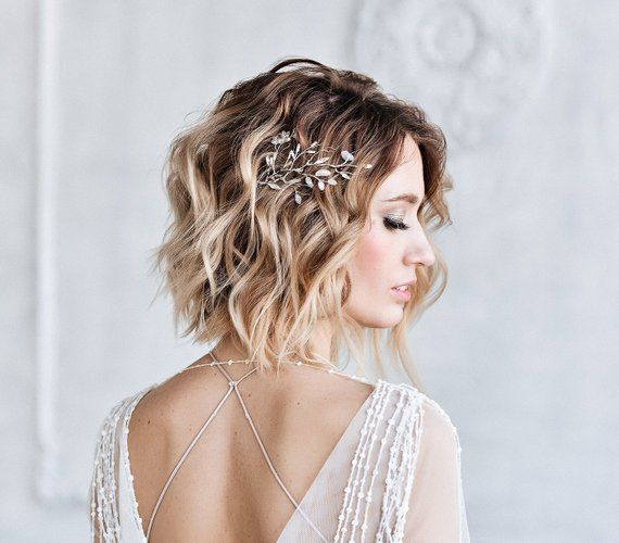 Braut Haar Zweig – Schmuck Silber Zweig – Hochzeit romantischen Schmuck – Hochzeit Haarnadel – Hochzeit Haarspange – Zweige von Swarovski-Kristallen