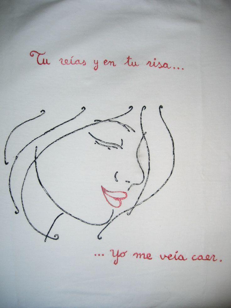 Camiseta pintada a mano homenaje a Ismael Serrano http://pintaradrede.blogspot.com.es/
