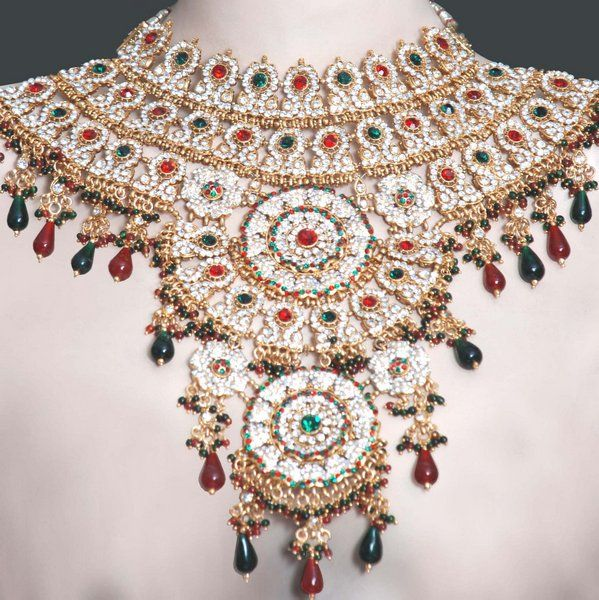 Indian Jodha Akbar Design Wedding Jewelry Set Online Shopping