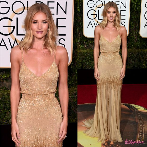 GOLDEN GLOBE 2016: ROSIE HUNTINGTON - Fashionismo