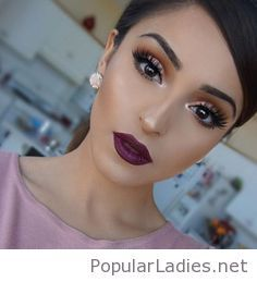 wedding-makeup-style-purple-lips-and-more