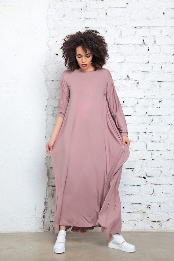 Abaya Plus Size Clothing Blush rosa Maxi abito Kimono