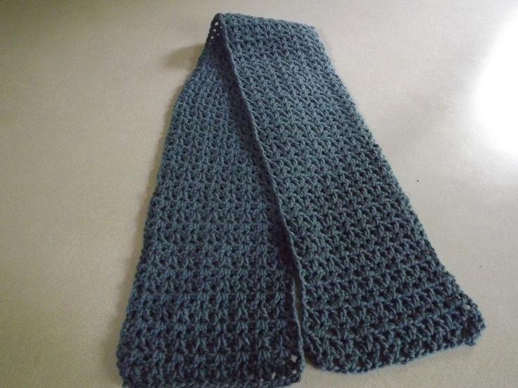 vstitch scarf Sz I hook 5 1/2 oz worsted weight yarn Ch 28