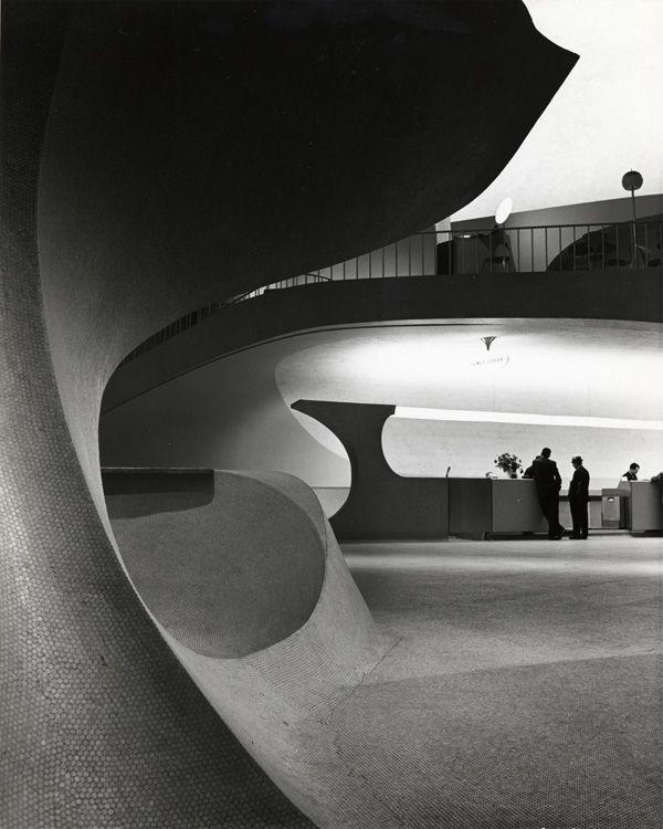 TWA Terminal, New York International (now John F. Kennedy International) Airport, New York, c. 1962. Photograph: Balthazar Korab. © Balthazar Korab Ltd.: Architects, Eerosaarinen, International Airports, Eero Saarinen, Twa Terminator, Architecture, New York, Balthazar Korab, Jfk Airports