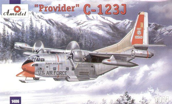 Fairchild C-123J Provider. A Model, 1/144, injection, No.1406. Price: 15,40 GBP.
