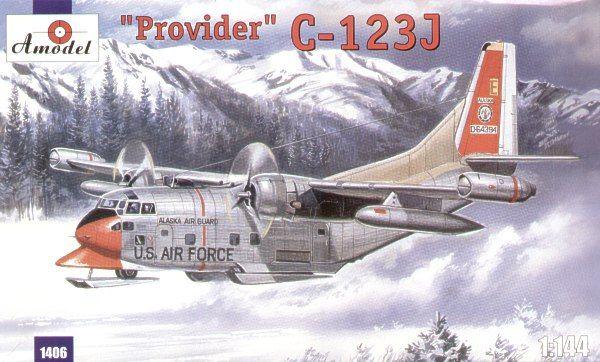 Fairchild C-123J Provider. A Model, 1/144, injection, No.1406. Price: 15,40 GBP.