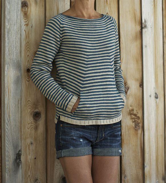 Shellseeker by Heidi Kirrmeier Made one in Schoppel Wolle's Leinen Los--a great, smart pattern and a very wearable sweater.