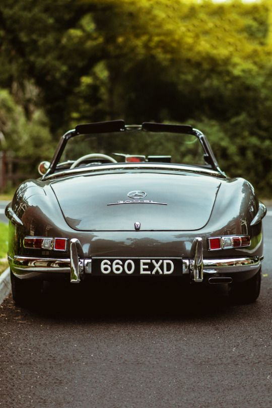 The chrome. The color. Perfect ride... Mercedes 300SL