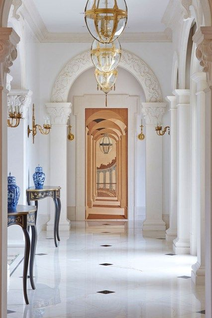 934 best entries foyers images on pinterest for End of hallway ideas