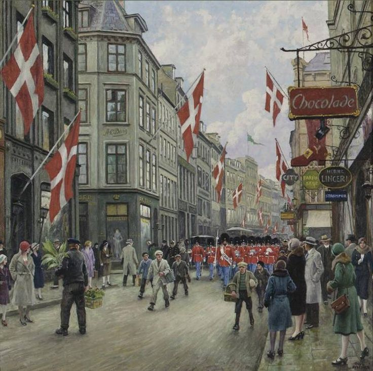 Paul Gustave Fischer - Celebrate the birthday of King Christian X