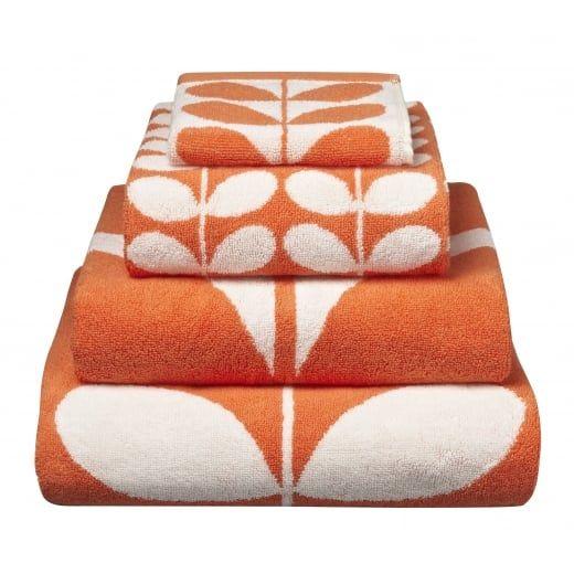 Orla Kiely Linear Stem Clementine Towels