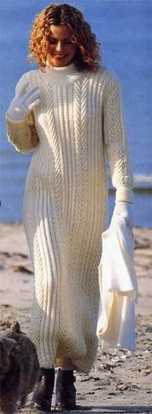 Белое длинное платье