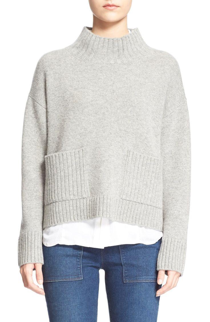 Frame Denim 'Le Crop' Wool & Cashmere Sweater