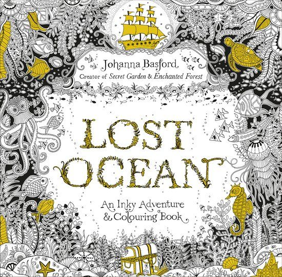 Lost Ocean An Inky Adventure Colouring Johanna Basford Kniha