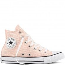 Converse pudrové tenisky CTAS HI White/Vapor Pink - 2090 Kč