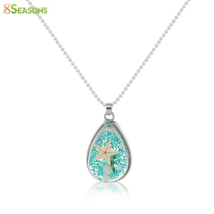 CL Handmade Boho Transparent Resin Dried Flower Necklace