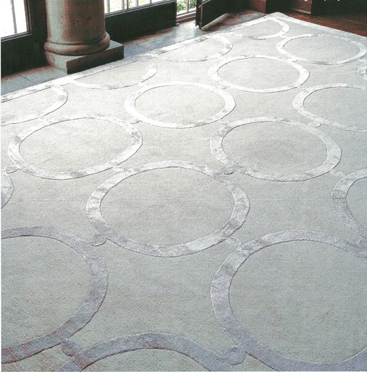 Tone On Silver Sheen Area Rug Ad