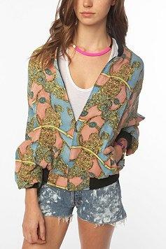 Urban Renewal Silk Bomber Jacket