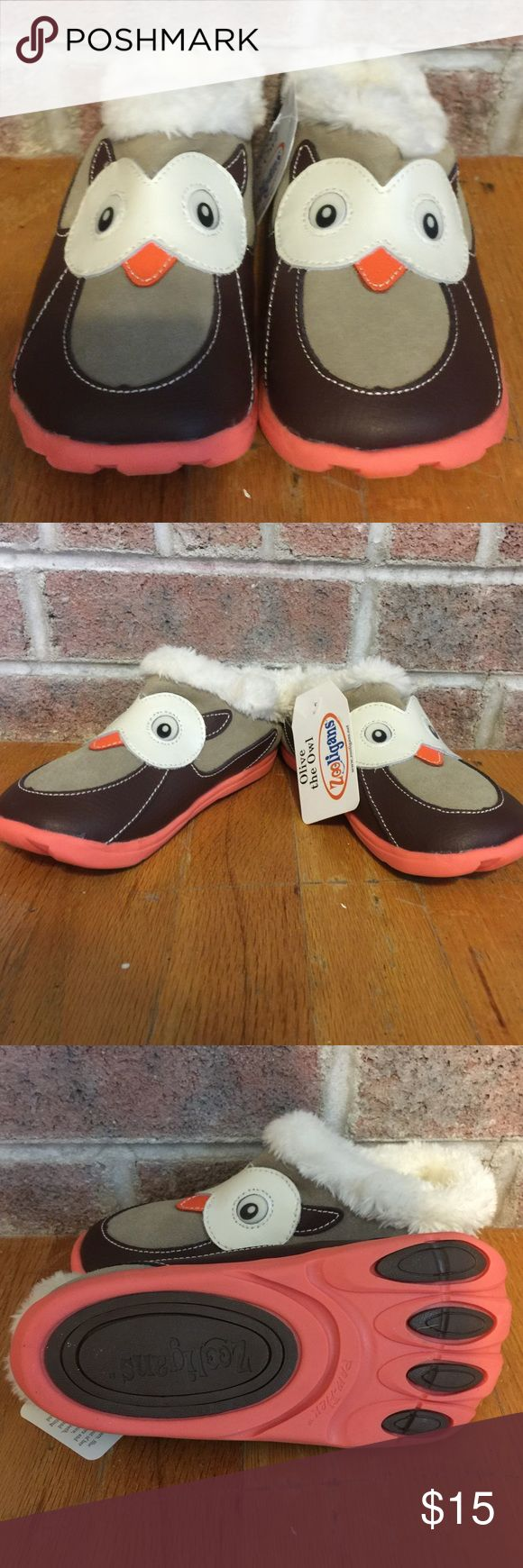 """Kids Zooligans """"Olive the Owl"""" fuzzy slippers Please feel free to ask any questions or make an offer, and as always THANK YOU for shopping my posh closet! Xoxo -Tish zooligans Shoes"""