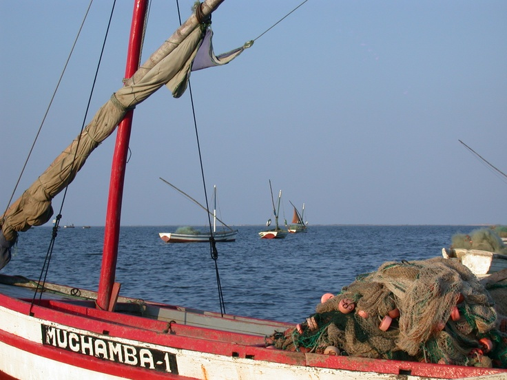 Fishing boats in Mozambique
