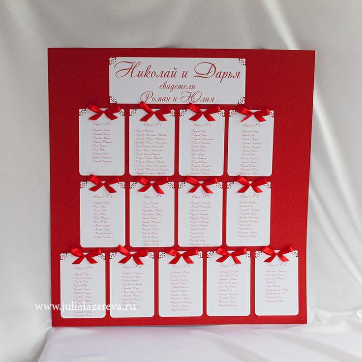 """План рассадки """"С бантиками"""" от 7 столов и больше #wedding #свадьба"""