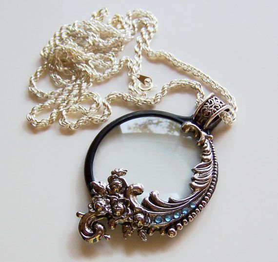 39 best magnifying glass necklace images on pinterest glass magnifying glass necklace must have mozeypictures Image collections
