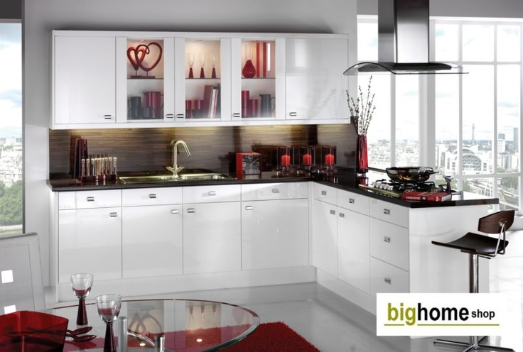 Fitted Kitchens, Complete Kitchen Units Cabinets,Hi-Gloss White Door- Appliances | eBay 655
