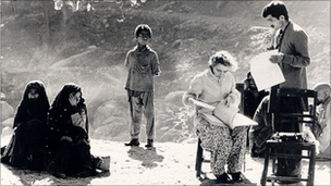 Dr Pfau at work at her Leprosy clinic, Pakistan.