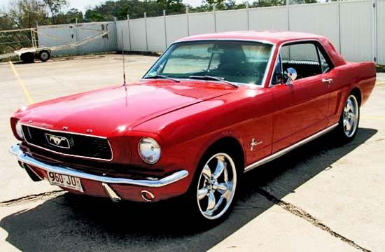 1967 Mustang in Candy Apple Red.  My dad had this car.