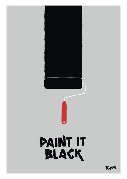 Top 15 des posters de titres de chansons, les Title Cover de Raphaël Bonan // Paint It Black - The Rolling Stones