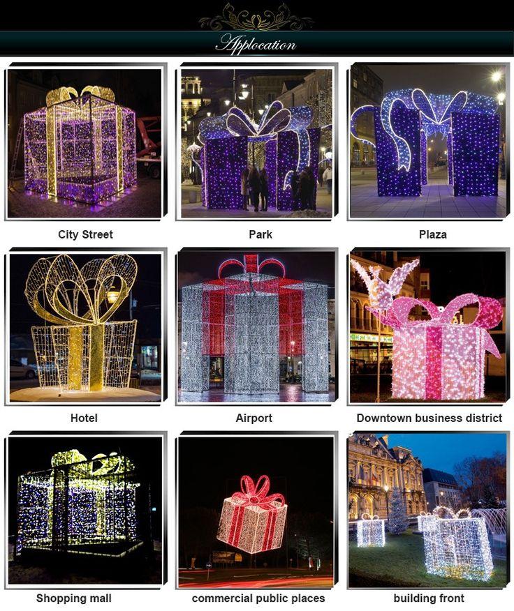 illuminazioni natalizie per esterni-scatole regalo