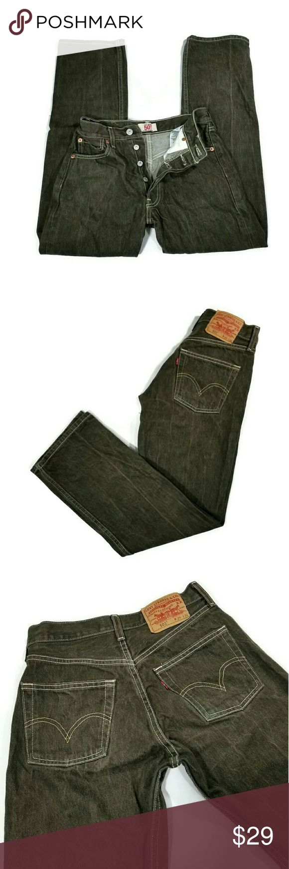 Levis 501 Button Fly jeans mens Great condition. Size W29 L30. Straight leg.   100% cotton. Color faded black. Levi's Jeans Straight