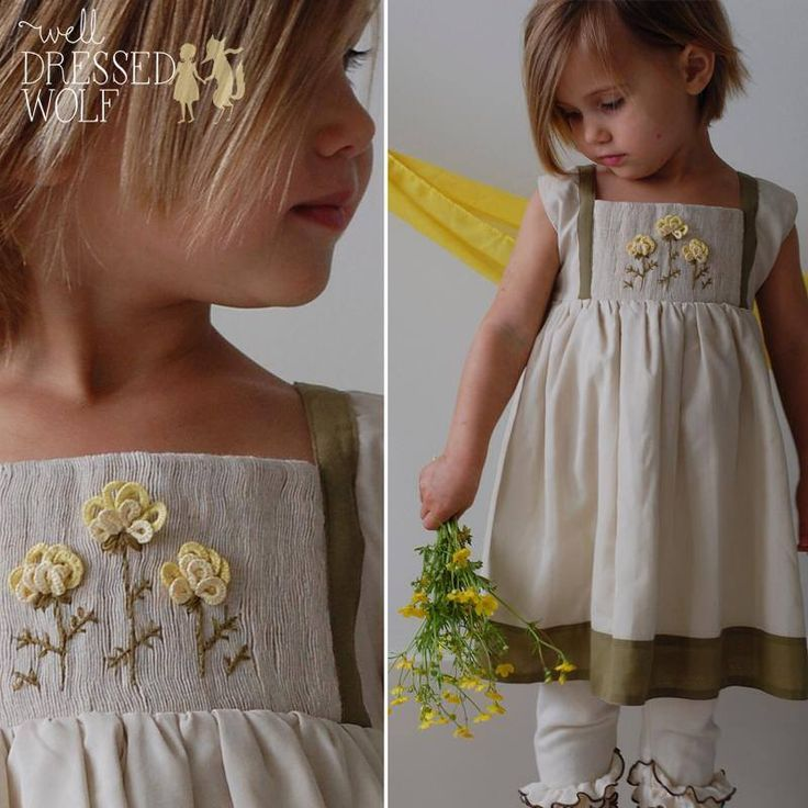 NWT Well Dressed Wolf WDW Buttercup Hand Smocked & Embroidered Dress 6